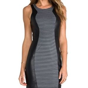 Bailey 44 Gyroscope Faux Leather and Tank Dress